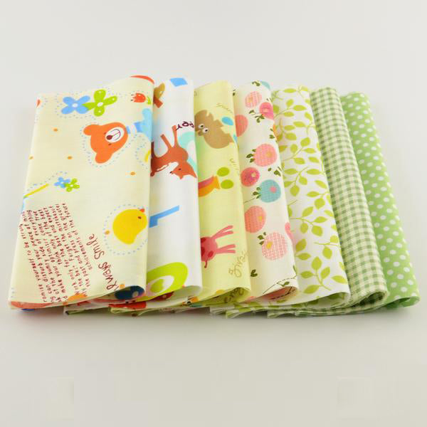 "7 Pieces Fat Quarters Cotton Fabric (8"" x 20"" ) Fresh Spring Series"