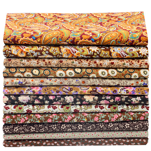 12pcs Royal Brown Fat Quarter Bundle
