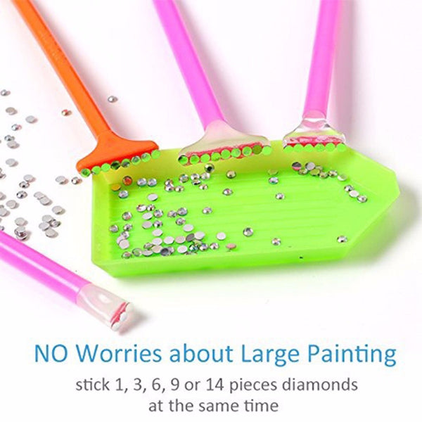 20pcs 5D Diamond Painting Tools 28 Grids Storage Box