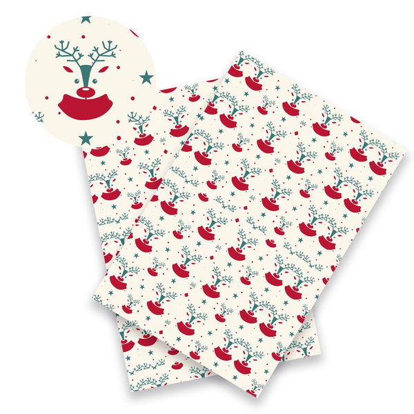 "Synthetic Leather (9"" x 12"") Merry Christmas Fabric"