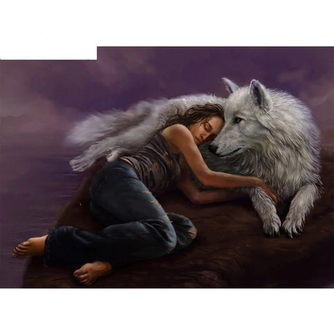 "Oil Painting by Numbers ""Wolf Girl"""