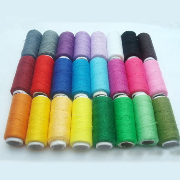 24 Colors 200 Yard Polyester Embroidery Sewing Threads