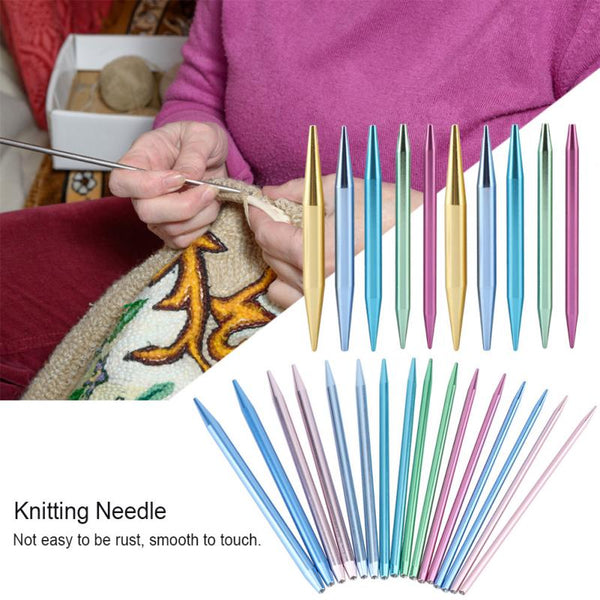 26PCS Aluminum Change Head Circular Knitting Needles Sets