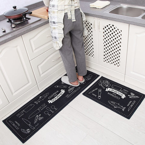 2Pcs Japanese Style Kitchen Long Floor Mat