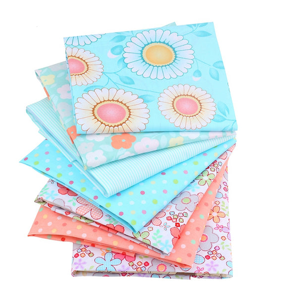 7 Piece Lot Patchwork Fabric (16″ X 20″) Cute Floral Collection