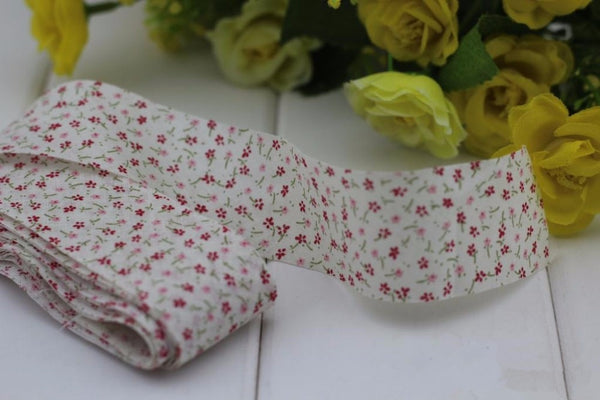 "1.2"" Floral Plain Cotton Bias Binding Tapes"