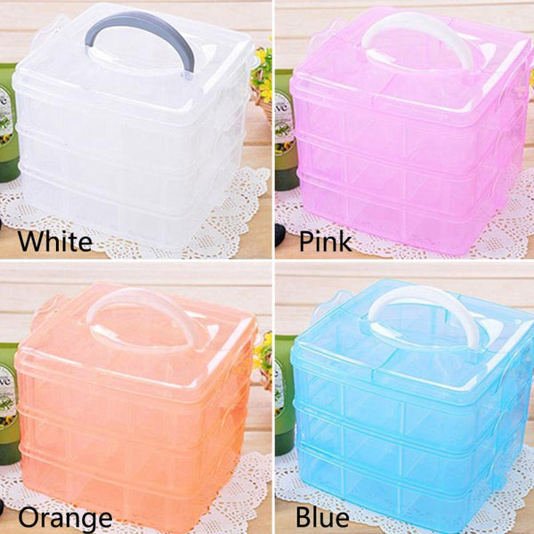 3-Layers Detachable Desktop Transparent Storage Box