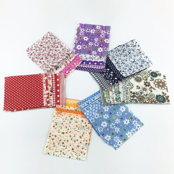 30 Piece Lot Patchwork Fabric (3.9 X 3.9″)