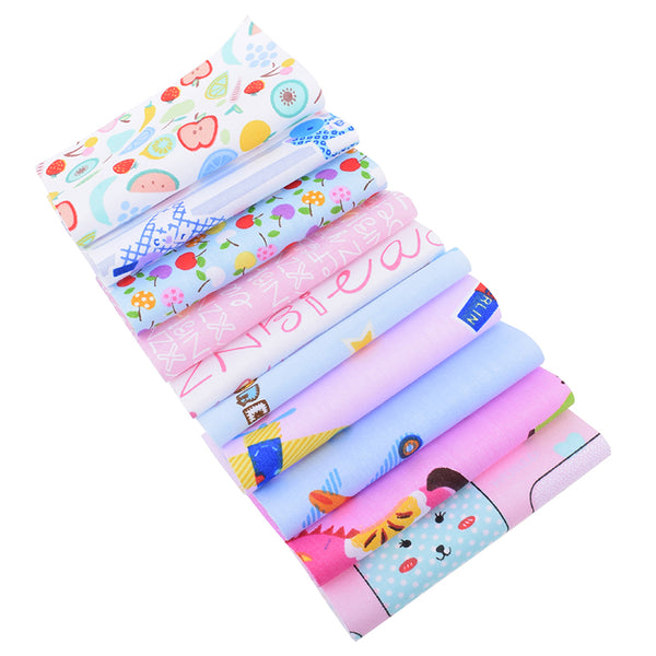 "30 Pcs Twill Cotton Fabric Bundle (4"" x 4"") Ramdom Cartoon Collection"