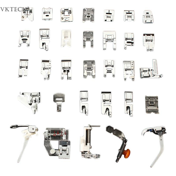 32pcs Mini Sewing Machine Presser Foot Feet