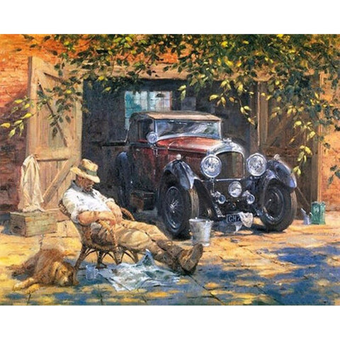 Painting By Numbers Vintage Relax Car