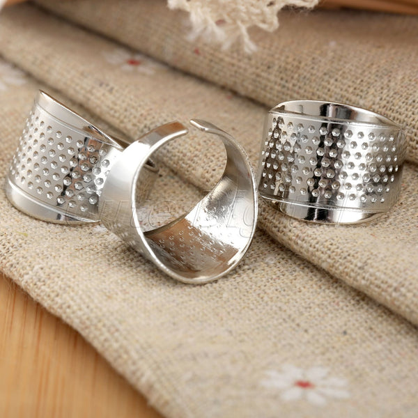 3 Adjustable Sewing Thimble Rings