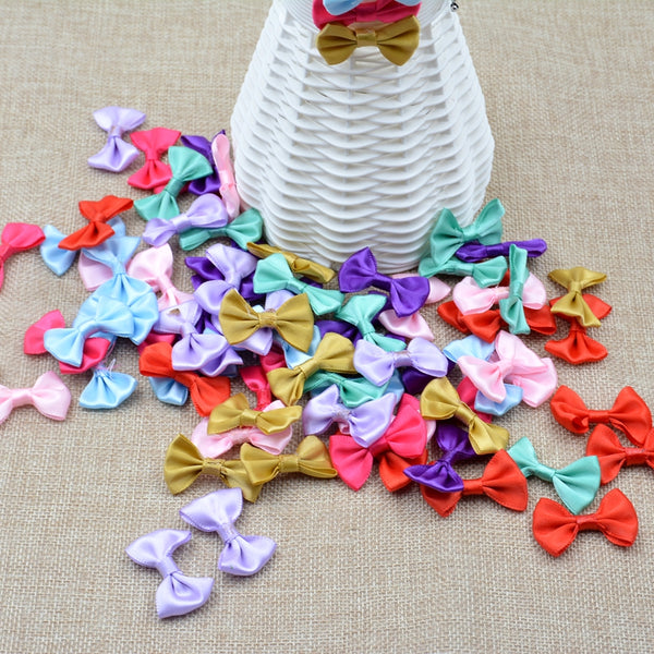 "1"" 20 pcs Silk Bow-Knot Mini Rosette"
