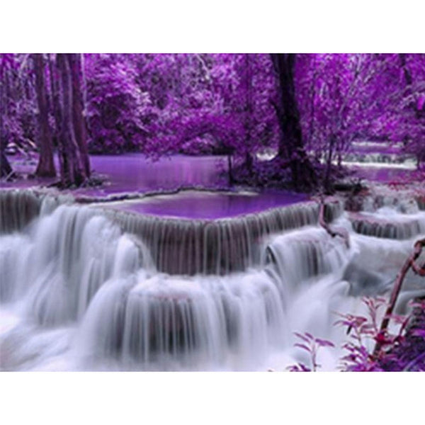 3D Diamond Embroidery Waterfall Scenery