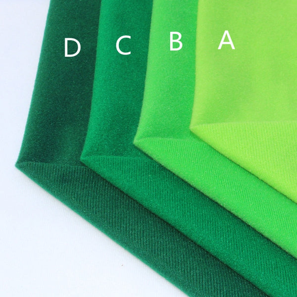 "4Pcs Fabric Polyester (16"" x 20"") Green Fleece Collection"