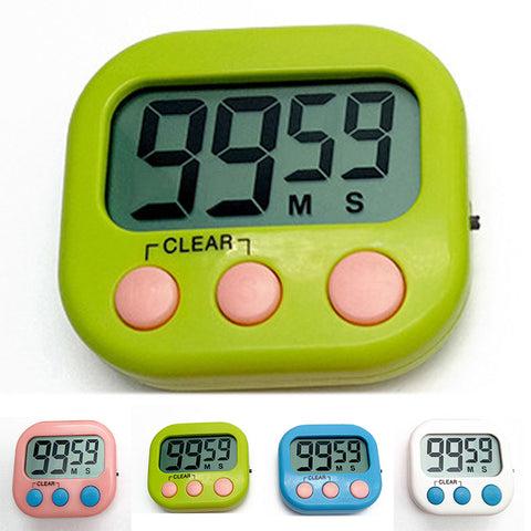 4colors Magnetic LCD Digital Kitchen Timer