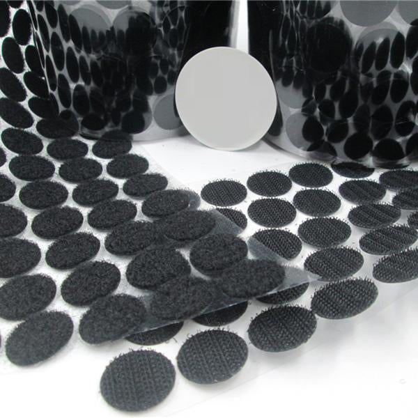 50Pairs Black/White Magic Nylon Sticker Double Sided Adhesive Hooks