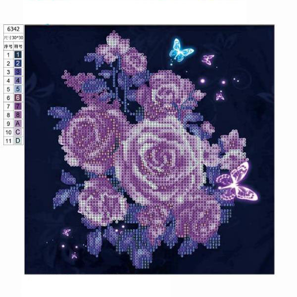 5D Diamond Embroidery Rose Butterfly