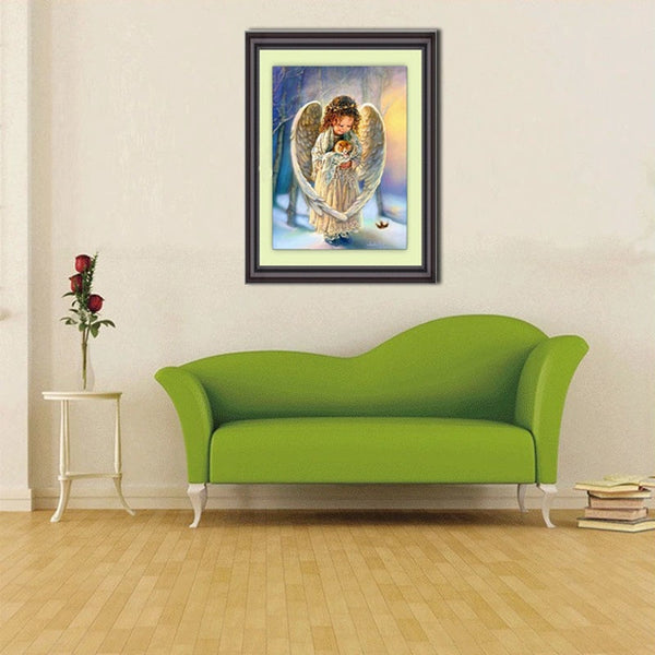 5d Diamond Painting Angel and Kitten