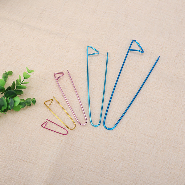 5pcs Aluminum Steel Knit Holders Knitting Needles Markers