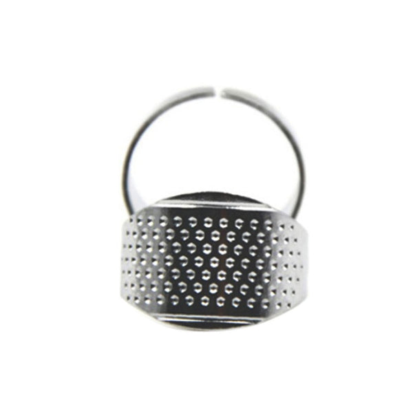 5pcs/set Safety Silver Ring Thimble Finger Protector