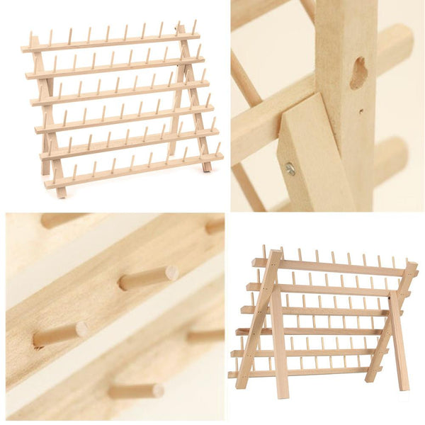 60 Axis Wood Thread Rack Spool Sewing Organizer