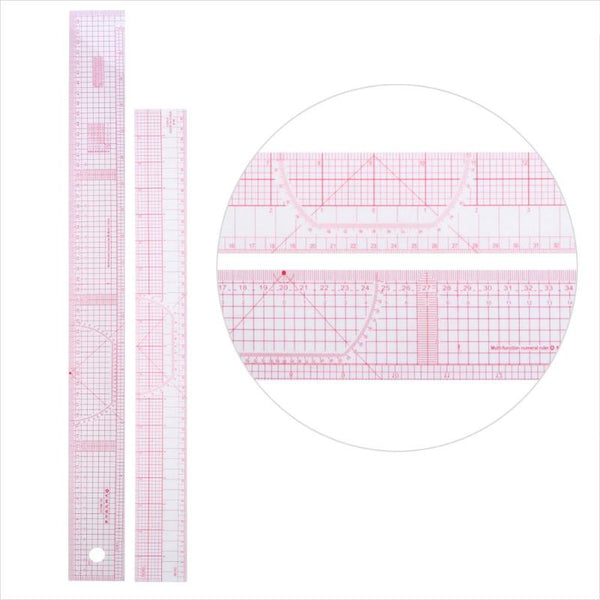 6pcs/set Curve Tailor Patchwork Drawing Rulers