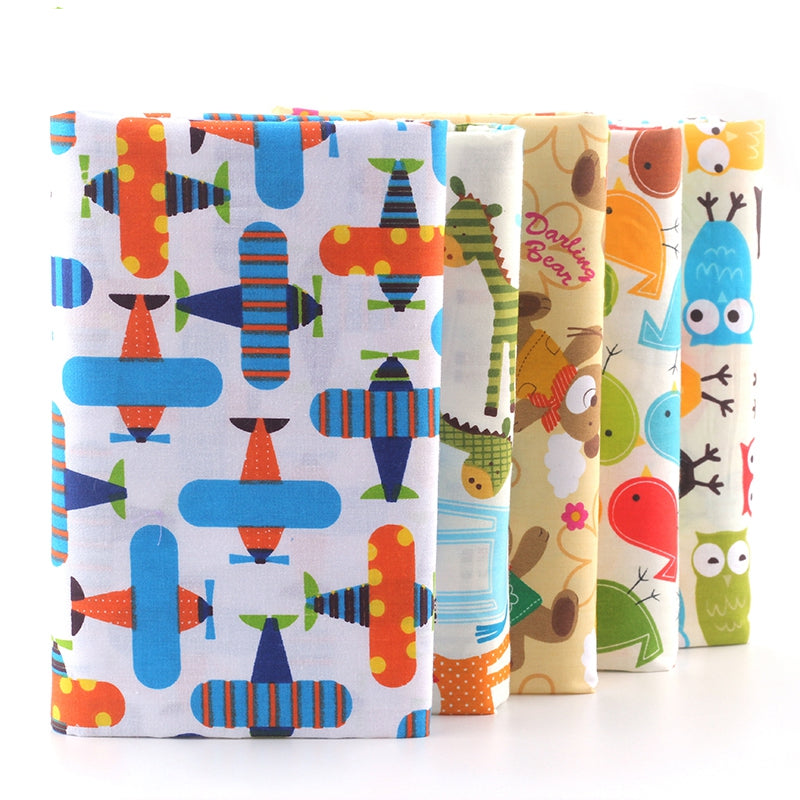 5 Pieces Lot Patchwork Fabric (16″ X 20″) Little Boy Collection