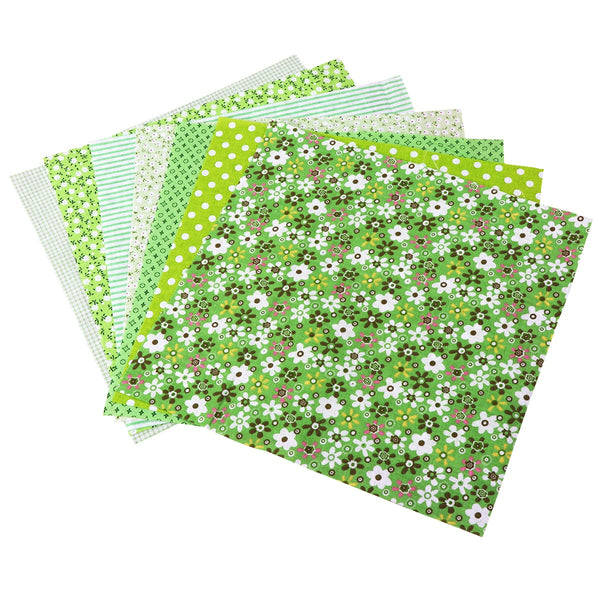 "7pcs Cotton Fabric (10"" x 10"") Fashion Assorted Pattern Floral"