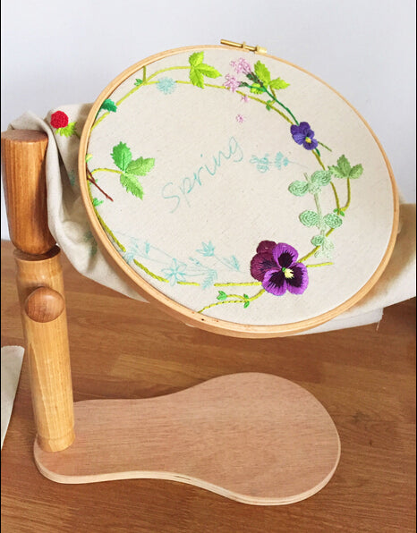 9 Inch Standing Quilting Frame embroidery Wooden Hoop