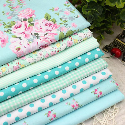 8 Piece Lot Patchwork Fabric (15″X19″) Victoria set