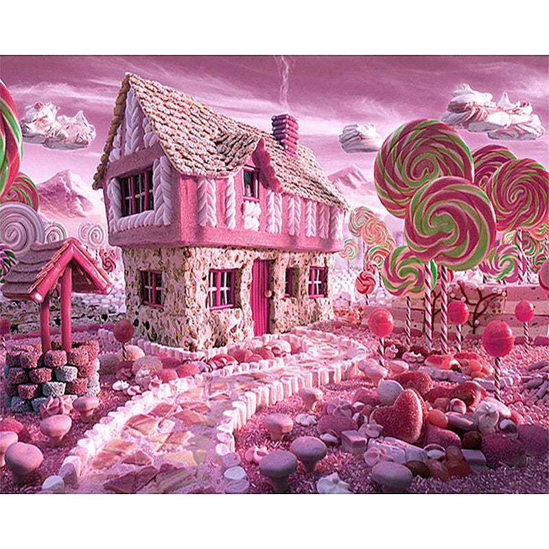 "Full Square Diamond 5D Diamond Painting ""Candy House"""