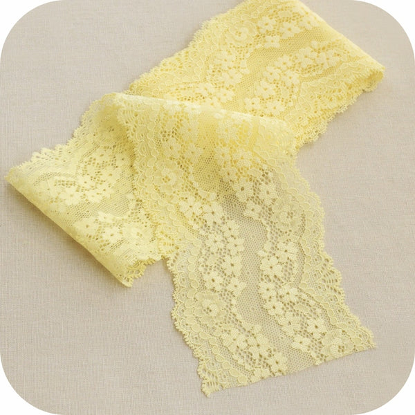 4inches Soft Elastic Lace Ribbon Tape
