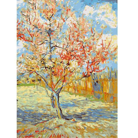 Peach Blossom Painting By Numbers