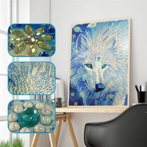 Animal Wolf Special Shaped Diamond Painting