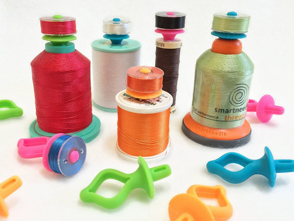 12Pcs Store Bobbins on Top of Thread Spools