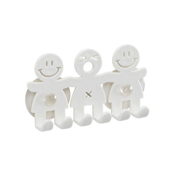 Cute Cartoon Bathroom Smiling Face Toothbrush Towel Storage Rack