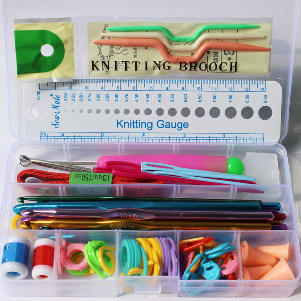 Crochet Hooks Needles Set Stitches knitting Needles with case