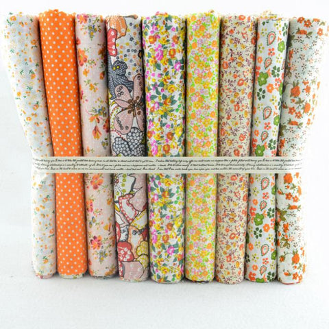 9 pcs Fat Quarter Bundle 20X20 Citrus Floral Collection