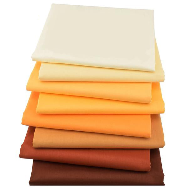 "8pcs Twill Cotton Fabric (16"" x 20"") Solid Color Series"