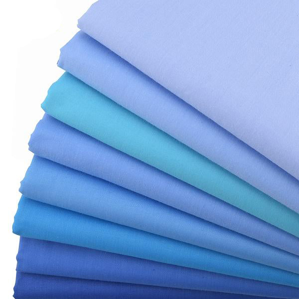 "8pcs Twill Cotton Fabric (16"" x 20"") Plain Blue Series"