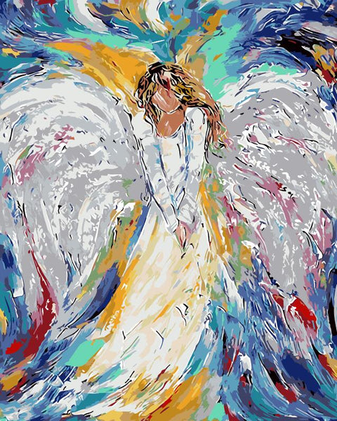 Color Angel Painting by Numbers