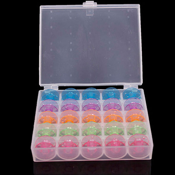 Sewing Machine Spool Case With Bobbins (25)