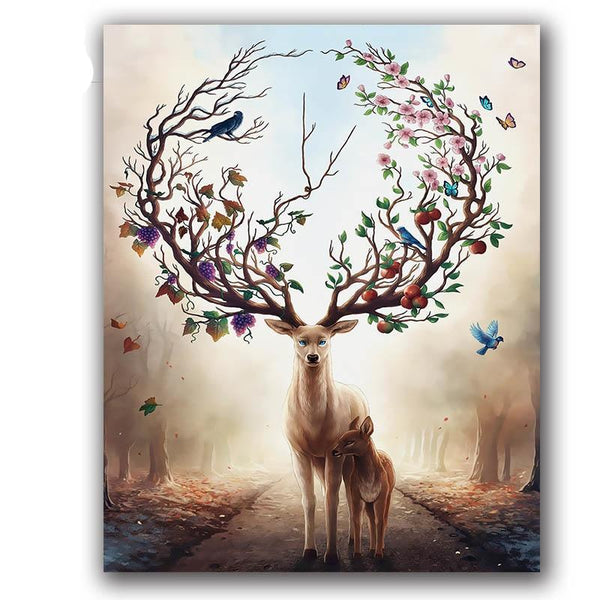 Paint by Numbers Forest Deer