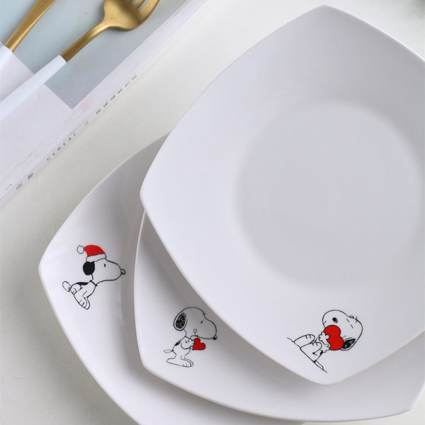 Creative Cartoon Dinner Square Plate
