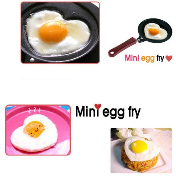 Cute Shaped Egg Mould Pans Nonstick Stainless