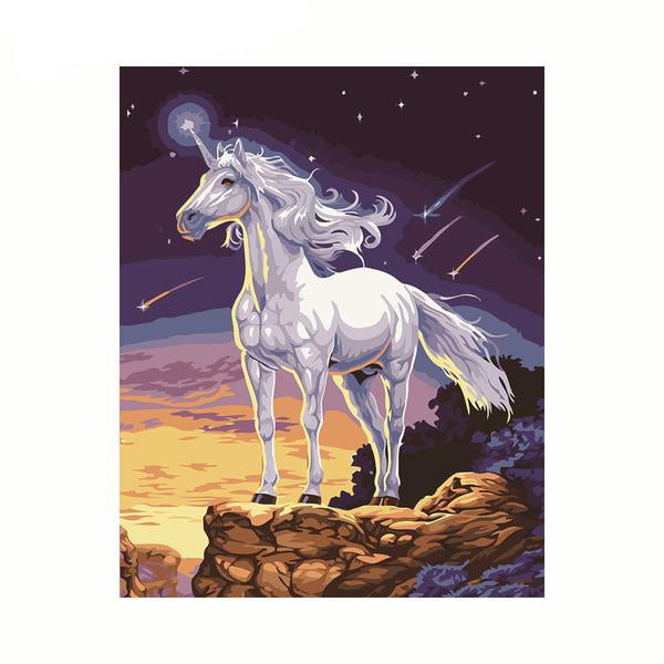 DIY Digital Oil Painting By Numbers Horse Color Kit