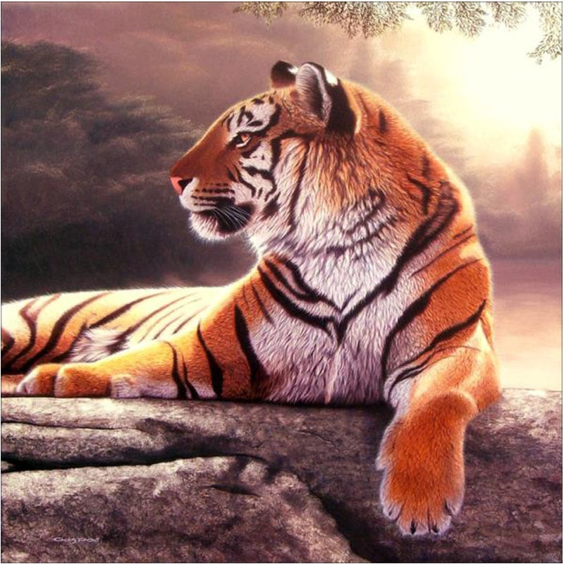 Tiger Picture 5D Wall Diamond Embroidered
