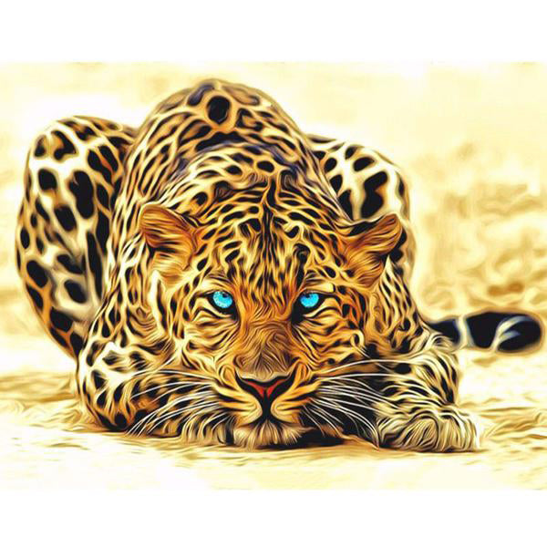 Frame Painting By Numbers Kits Leopard Animals