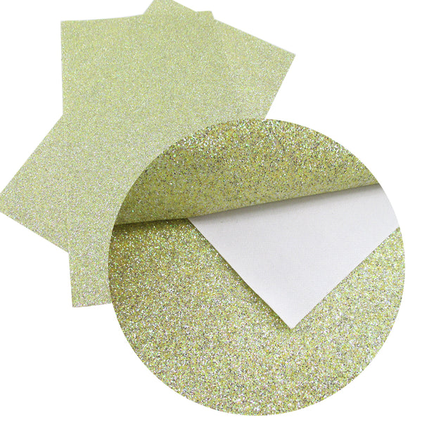 "Glitter Material Fabric (8"" x 13"") Synthetic Leather"